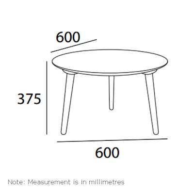 Carsyn Round Coffee Table - Marine Blue - Image 2