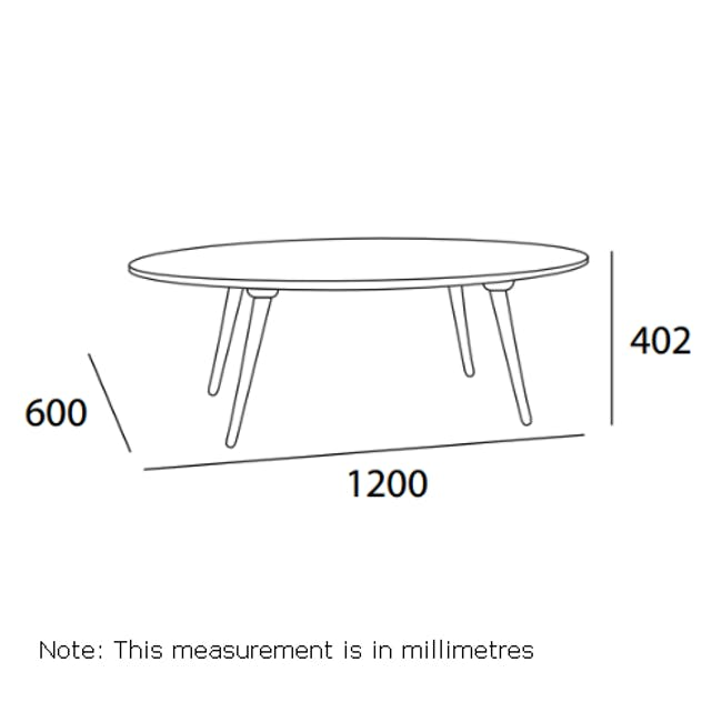 Carsyn Oval Coffee Table - Cocoa - 1