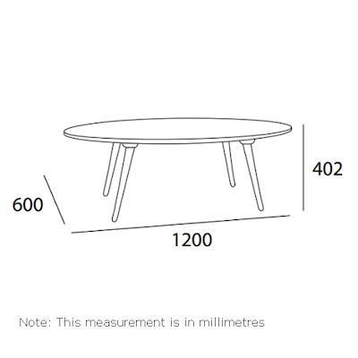 Carsyn Oval Coffee Table - Cocoa - Image 2