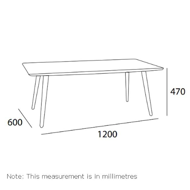 Carsyn Rectangular Coffee Table - Marine Blue - 1