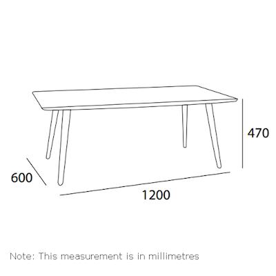Carsyn Rectangular Coffee Table - Marine Blue - Image 2