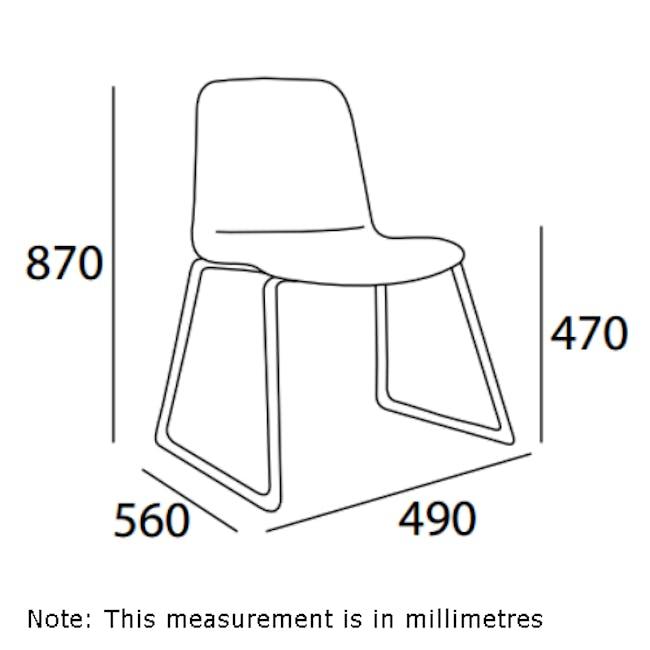 Ava Dining Chair - Matt Black, Tangerine - 12