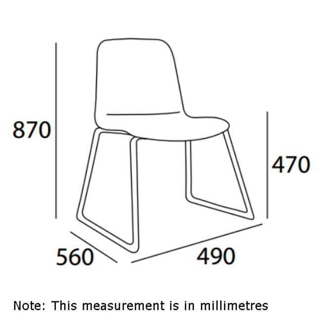 Ava Dining Chair - Matt Black, Oasis - 12