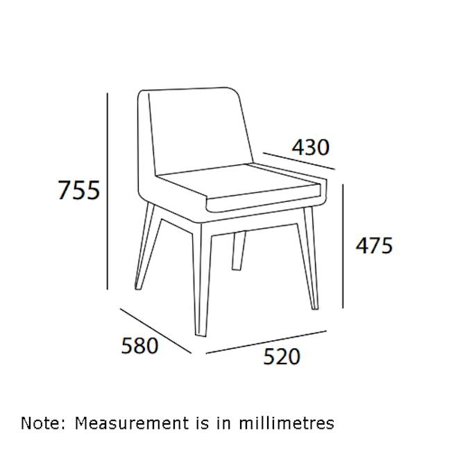Fabian Dining Chair - Natural, Aquamarine - 8