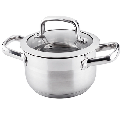 Lamart Stainless Steel Pot with Glass Lid - Image 1