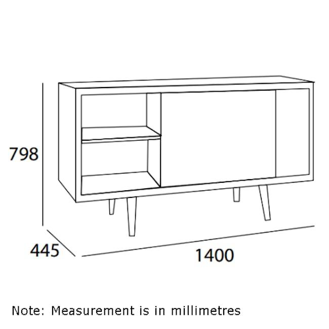 Martin Sideboard 1.4m - Natural, White, Taupe Grey - 2