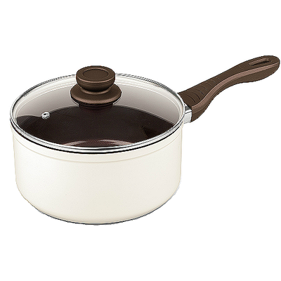 Lamart Induction Ready Sauce Pan/Casserole with Lid - Milky - Image 1