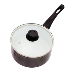 Lamart Induction Ready Sauce Pan/Casserole with Lid - Black