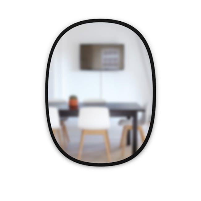 Hub Oval Mirror 46 x 61 cm - Black - 1