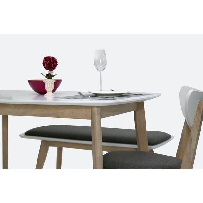(As-is) Harold Dining Table 1.5m - Natural, White - 47 - 13