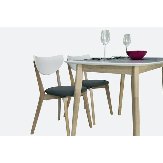 Preloved - (As-is) Harold Dining Table 1.5m - Natural, White - 37