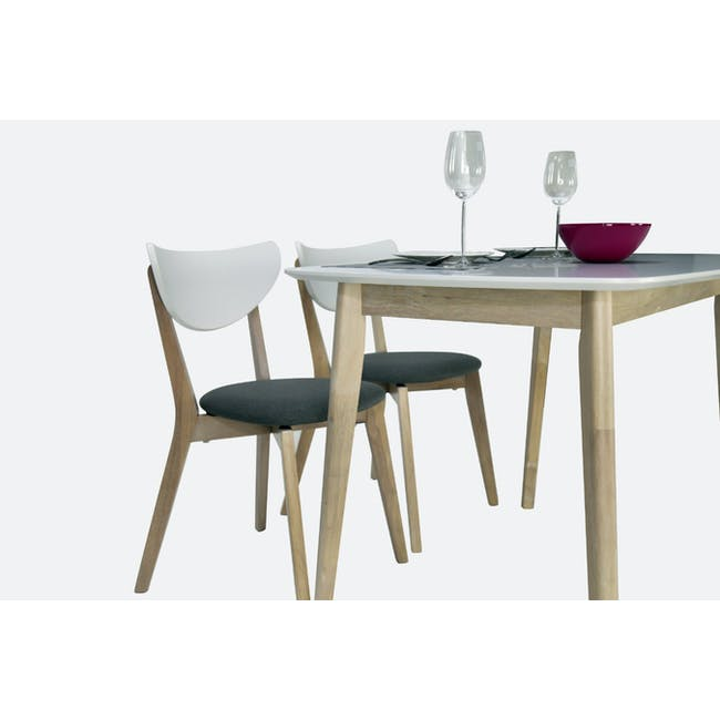 (As-is) Harold Dining Table 1.5m - Natural, White - 47 - 14