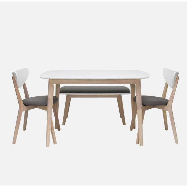 (As-is) Harold Dining Table 1.5m - Natural, White - 47 - 12