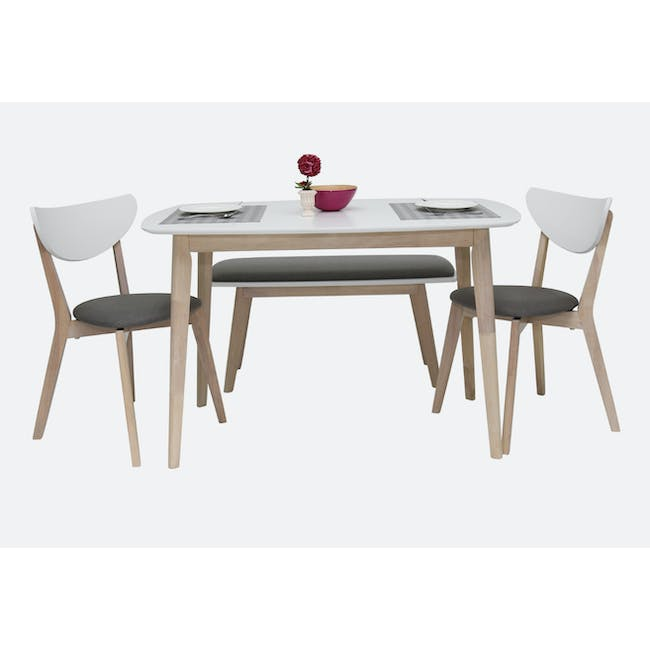 (As-is) Harold Dining Table 1.5m - Natural, White - 47 - 15