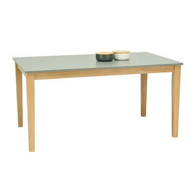 (As-is) Paco Dining Table 1.5m - Natural, Grey -4 - Image 2