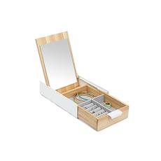 Reflexion Box - White/Natural Brown