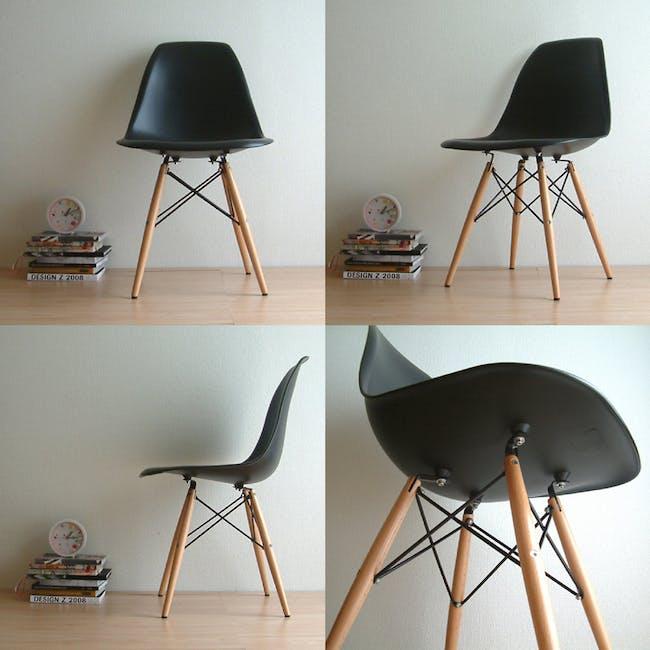 DSW Chair Replica - Natural, Black - 3