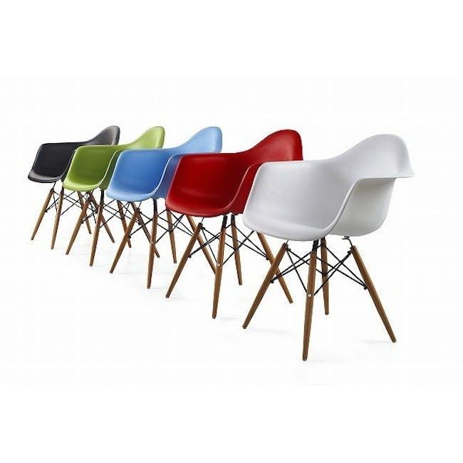 DAW Chair Replica - Natural, Black - 5