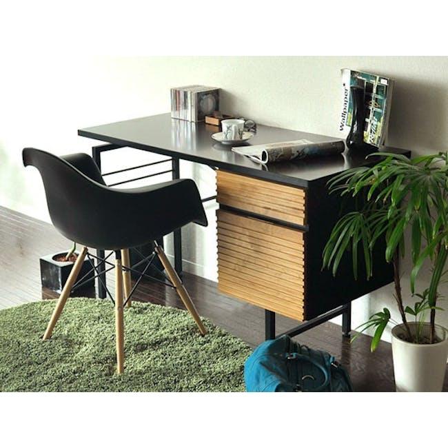 DAW Chair Replica - Natural, Black - 1
