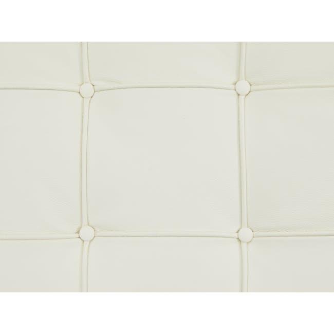Barcelona Ottoman Replica - White (Genuine Cowhide) - 6
