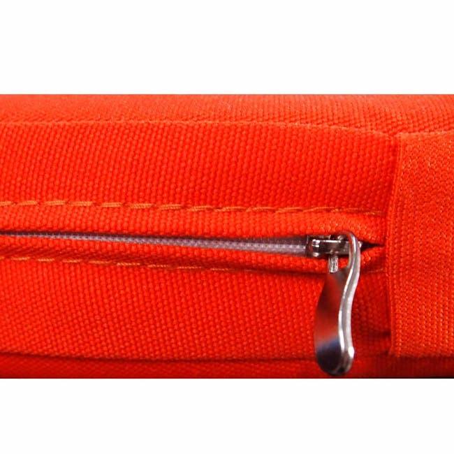 Palm Outdoor Dining Set - Orange Cushions - 9