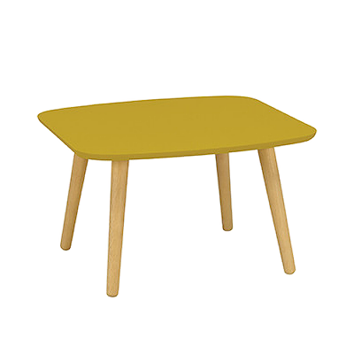 Banji Low Coffee Table - Olive Yellow - Image 1