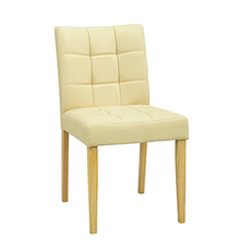 (As-Is) Davin Dining Chair - Natural, Cream - 1