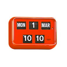 Calendar Flip Clock QD35 - Orange