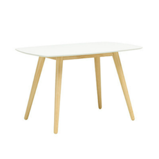 (As-Is) Stockholm 4 Seater Dining Table - Natural, White - 1