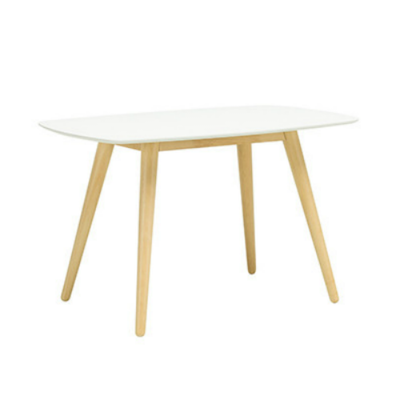 (As-Is) Vince 4 Seater Dining Table - Natural, White - 1