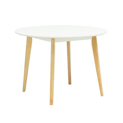 (As-Is) Harold Round Dining Table - Natural, White - 3 - Image 1
