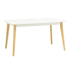 New York 6 Seater Dining Table - Natural, White