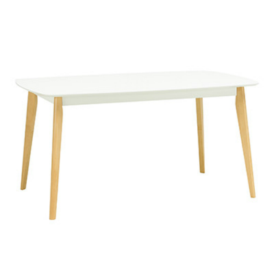 (As-is) Harold 6 Seater Dining Table - Natural, White - 8 - Image 1