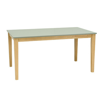 (As-is) Paco Dining Table 1.5m - Natural, Grey -4 - Image 1