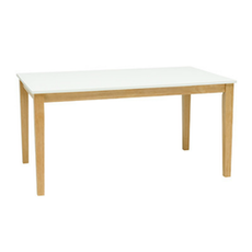 Copenhagen 6 Seater Dining Table - Natural, White