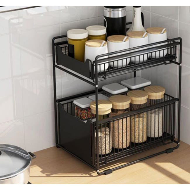 Tori Kitchen Organiser - Black - 1