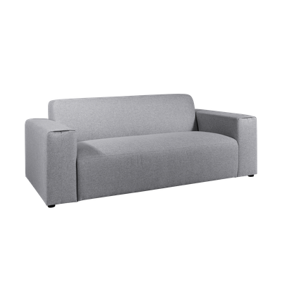 Adam 3 Seater Sofa - Grey - Image 2
