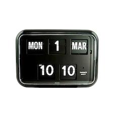 Calendar Flip Clock QD35 - Black