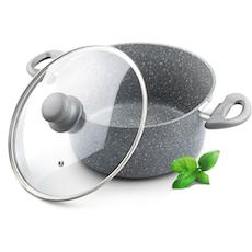Lamart Induction Ready Marble Stone Sauce Pan
