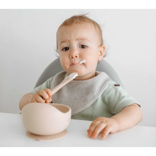 Little Fawns Silicone Suction Bowl - Taupe - 2