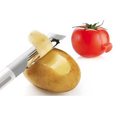 Stainless Steel Peeler - Red - Image 2