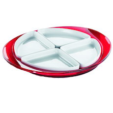 Feeling Hors D'Oeuvre Tray - Red
