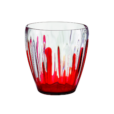 Iris Splash Deco Vase/Container - Red