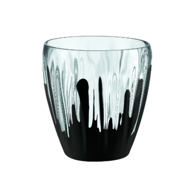 Iris Splash Deco Vase/Container - Black