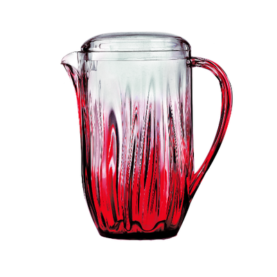 Iris Carafe Pitcher - Red