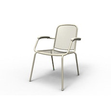 Lopo Stacking Chair w/ Creawood Handrest - Peyote