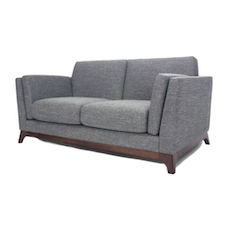 Berlin 2 Seater Sofa - Cocoa, Pebble