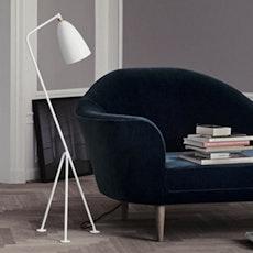Grasshoppa Floor Lamp with E27 Bulb - White