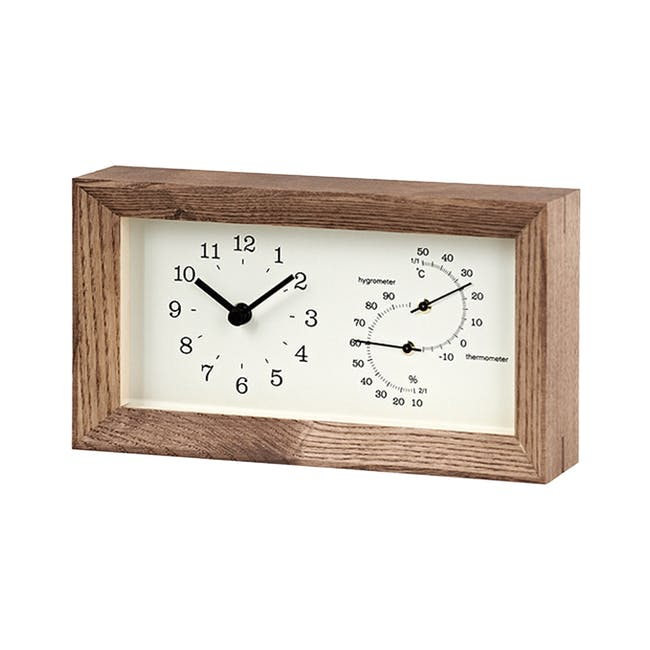 FRAME Table Clock - Brown - 0