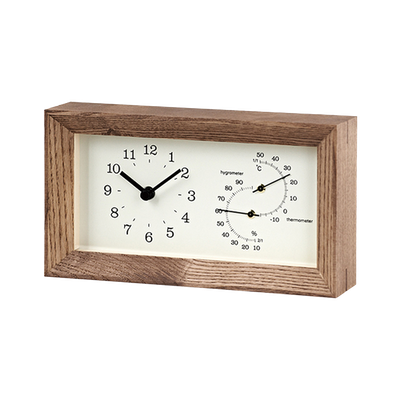 FRAME Table Clock - Brown - Image 2